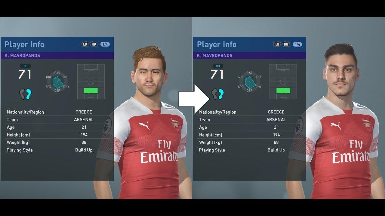 PES 2019 facepack part 1 - Premier League 120+ real faces added (PC)
