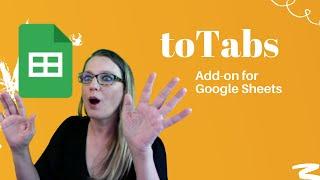 Using toTabs Add on