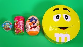 Opening M&M's Chocolate Candy for Kids Learn Colors! Surprise Candy Learn Sizes Small to Biggest #42