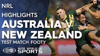 NRL Highlights: Australian Kangaroos v New Zealand Kiwis - Test Match Footy | NRL on Nine