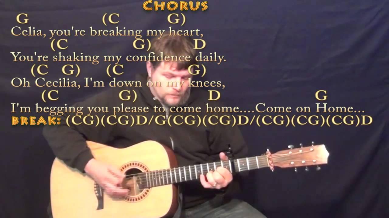 Cecilia Simon Garfunkel Strum Guitar Cover Lesson With Chords
