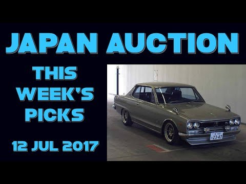 Japan Car Auction Weekly Picks 029 - 12 Jul 17