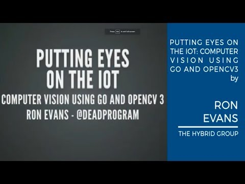 Ron Evans - Putting Eyes on the IoT: Advanced Computer Vision Using Golang