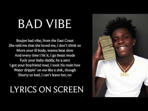 Quando Rondo – Bad Vibe (Lyrics on screen)