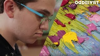 This Visually Impaired Artist Paints By Touch