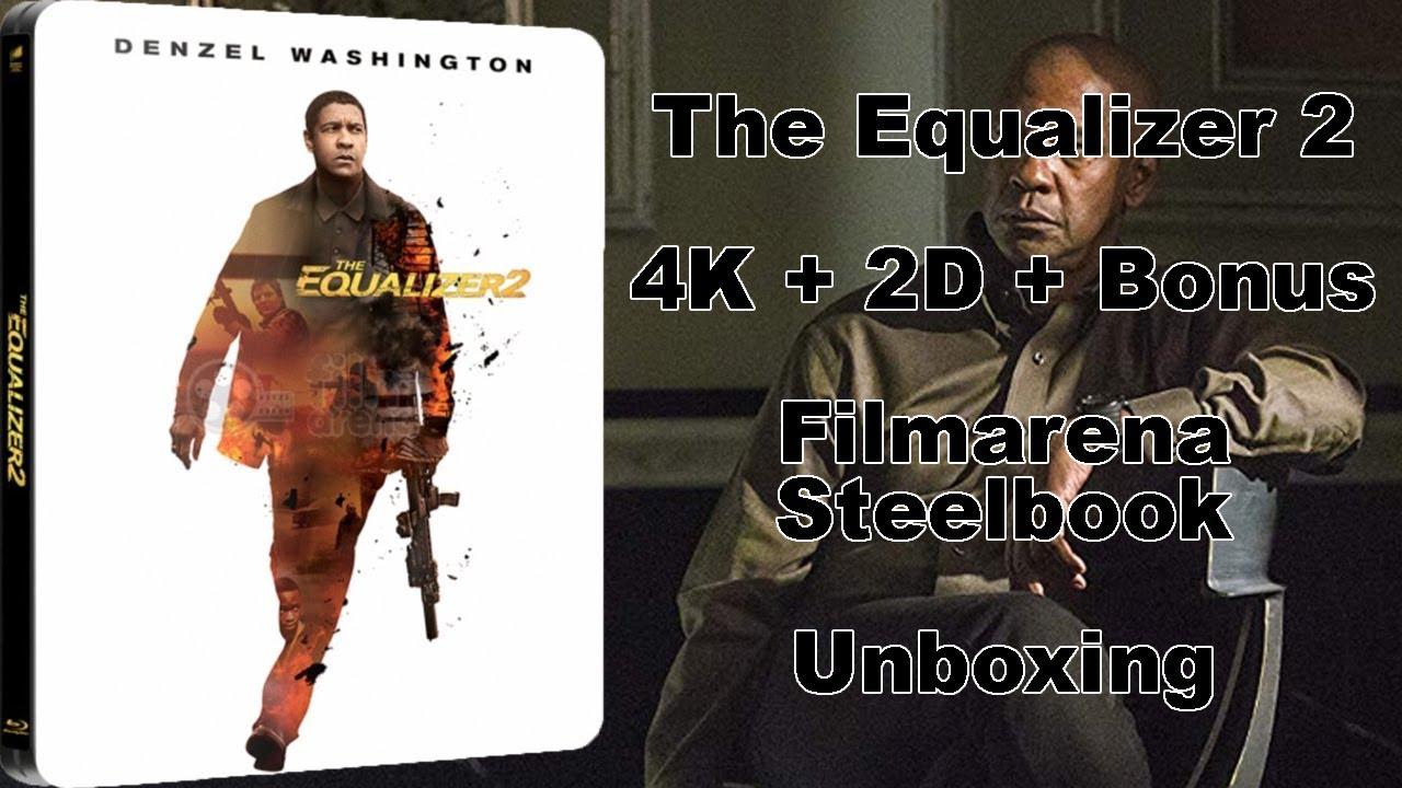 The Equalizer 2 4K + 2D + Bonus Blu-ray Filmarena Steelbook Unboxing