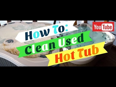 How to Clean Used Hot Tub Plumbing
