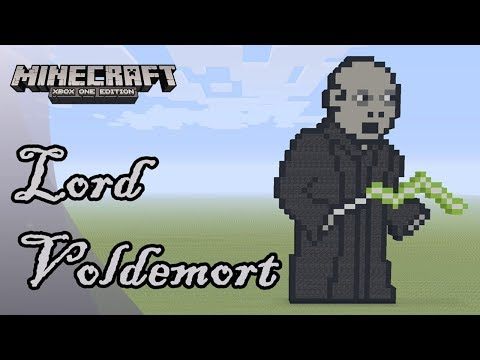 Minecraft: Pixel Art Tutorial And Showcase: Lord Voldemort (Harry Potter)