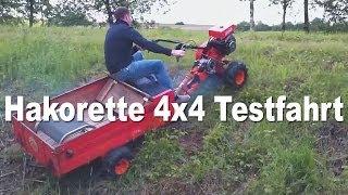 Einachser, Hakorette 4x4 Allrad Umbau bei erster Testfahrt!