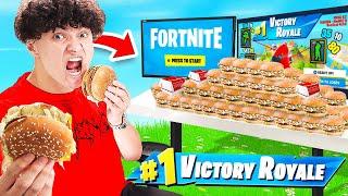 Every Elimination I order a McDonald's BIG MAC in Fortnite...
