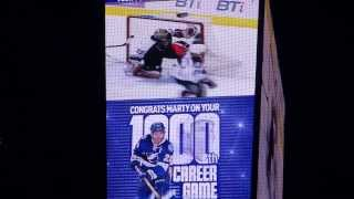 Martin St Louis 1,000th Game Ceremony at Tampa Bay Times Forum