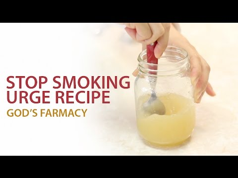 Stop Smoking Urge Recipe | GOD'S FARMACY