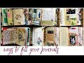 Ways to fill a journal ☆✩
