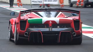 #35 Ferrari FXX K EVO screaming at Mugello Circuit! - Brutal V12 Engine Sound!