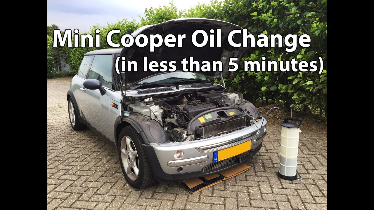 Mini Cooper Oil Change In Less Than 5 Minutes Youtube