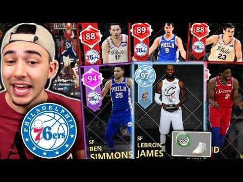 LEBRON JAMES JOINS THE 76ERS SQUAD BUILDER! WILL HE COMPLETE THE PROCESS?! NBA 2K18 MyTeam
