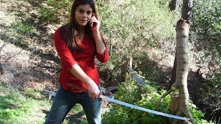 Katana Cutting in the Forest with Mary Princess Avina