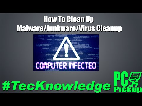 Tools and usage for Virus / Malware / Junkware and cleanup for Windows