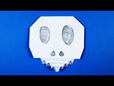 Origami Skull 💀 Paper Calavera - Easy Halloween DIY Decoration
