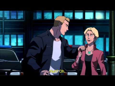 Justice League the Flashpoint Paradox Barry & Mom Scene English Captions