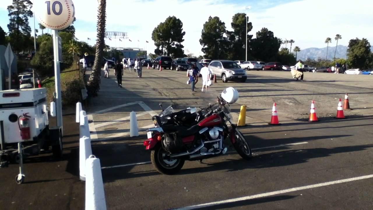 Dodger Stadium Motorcycle Parking