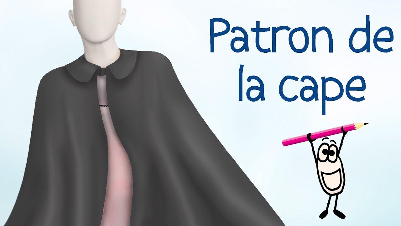 Gut gemocht Tuto patron couture gratuit - Patron de la cape - (Eng sub) - YouTube TE32