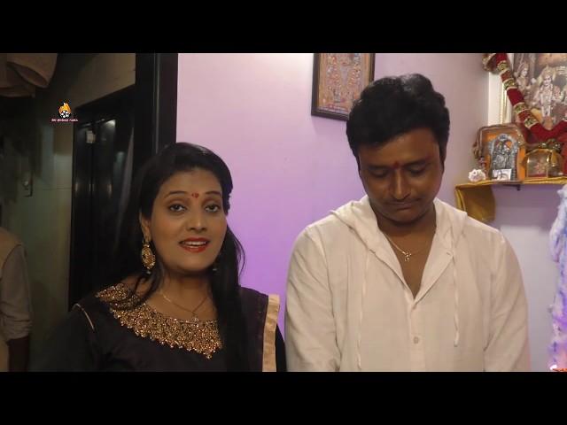 Actress Dipti Tiwari At New Home Ganpati Bappa Puja    Amrish Singh, Dipti Tiwari Interview