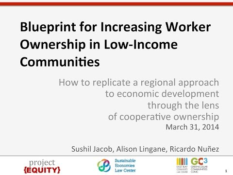 Webinar: Blueprint for Increasing Worker Ownership in Low Income Communities