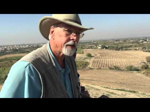 Dr. Steven Collins at Tall el-Hammam - The site of historic Sodom in the Jordan Valley