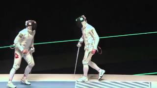 Фехтование шпага  Богдан Никишин  Украина   Бенжамен Штеффен, Швейцария  Рио, Test Event, 24⁄04⁄2016