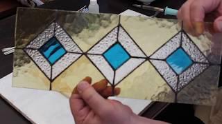 Геометрический витраж в технике Тиффани