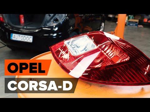 Как заменить задний фонарь / лампы накаливания задних фонарей наOPEL CORSA D [ВИДЕОУРОК AUTODOC]