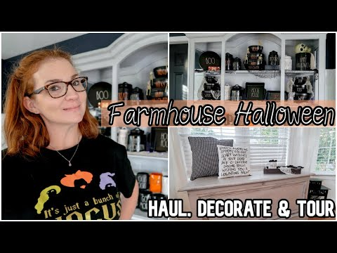 Halloween Farmhouse Decor Ideas | Decorate With Me | Fall Halloween Decor Haul & Tour