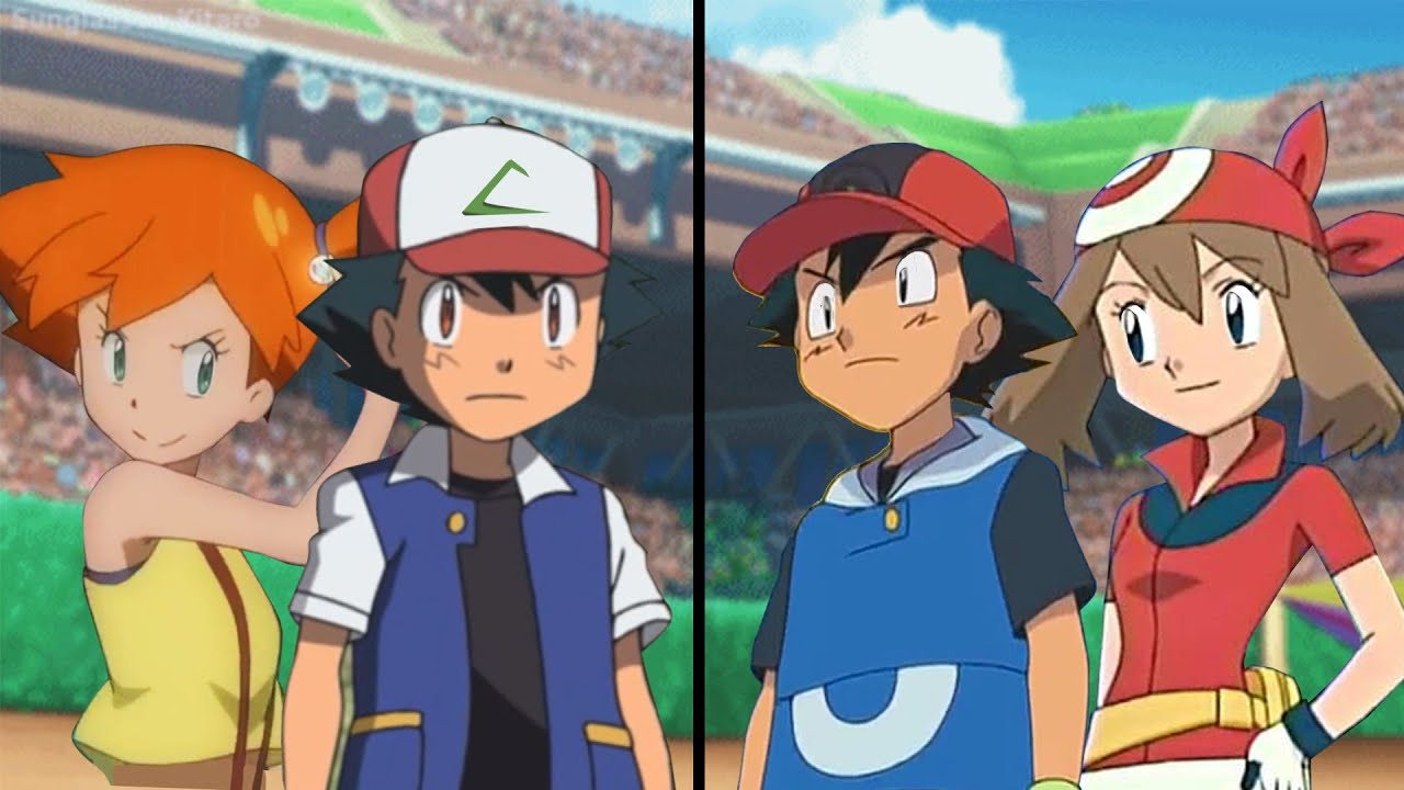 Download Pokemon Characters Battle: Ash and Misty Vs Ash and May (Kanto Vs Hoenn)