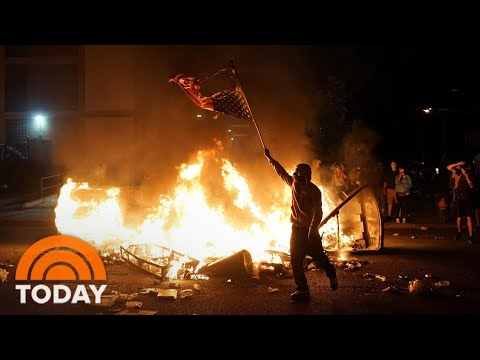 7th Night Of Violence And Looting Follows A Day Of Peaceful Protests | TODAY