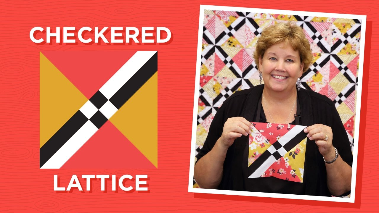 Make A Checkered Lattice Quilt With Jenny Youtube