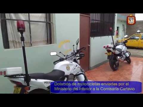 Dotación de motocicletas para comisaría Cartavio