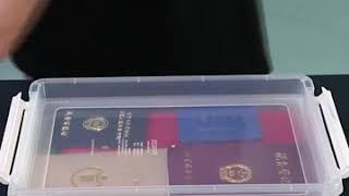 서류 보관함 플라스틱 정리함 투명 수납함 리빙박스