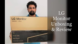 LG 20 inch monitor (20MK400H) With HDMI, Unboxing and Review.