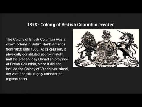 BC FIRST NATIONS - Colonization Timeline