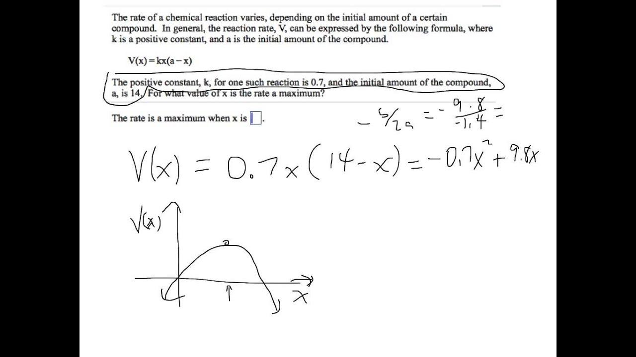 Quadratic Function Word Problem
