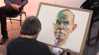Watercolor demonstration by Marek Yanai - Portrait of Tzahi