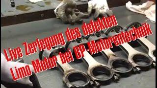 Philipp Kaess von Hannover Hardcore Live Zerlegung des defekten RS4 Limo Motor bei BP Motorentechnik