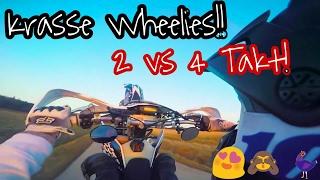 Motovlog   4 Takter werden abgezogen!   Heizen!   Sunny Day   Krasse Wheelies!!   KTM EXC 125