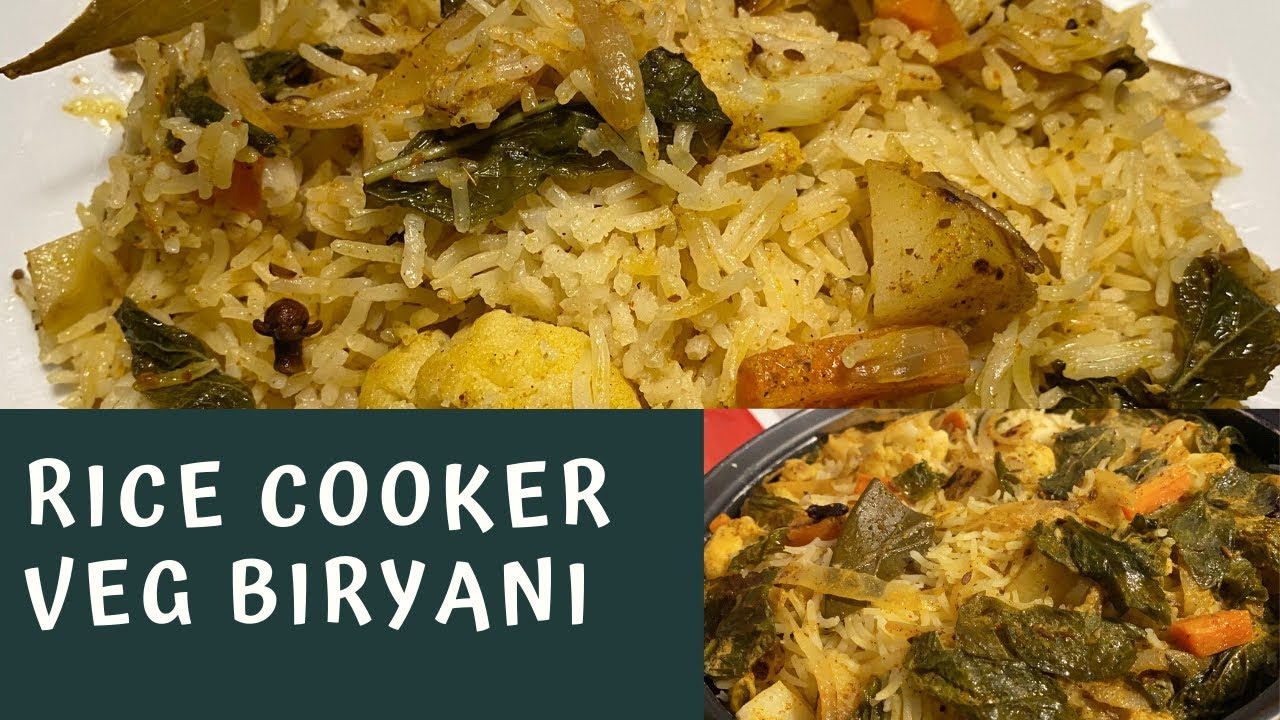 how to make vegetable biryani in rice cooker