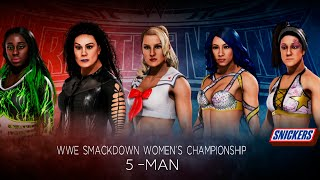 WWE2k20. Прогнозы WrestleMania 36: Elimination 5-Man WWE Smackdown Women's Championship.