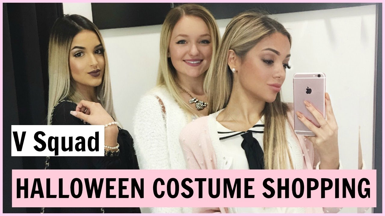 de2334b9770 Shopping for halloween costumes! V squad - YouTube