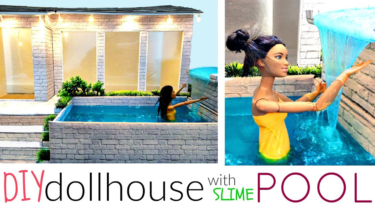 Modern Diy Dollhouse With Pool For Barbie Pt 1 Youtube
