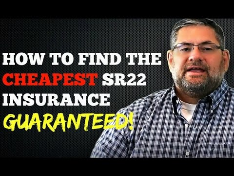 How to Find the Cheapest SR22 Insurance Price