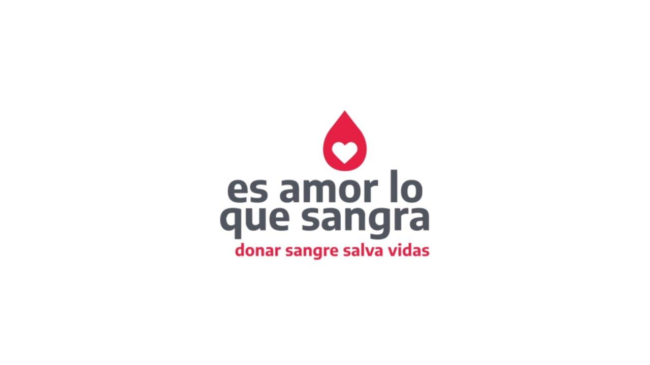 Donar sangre es un acto de amor. Es amor lo que sangra.